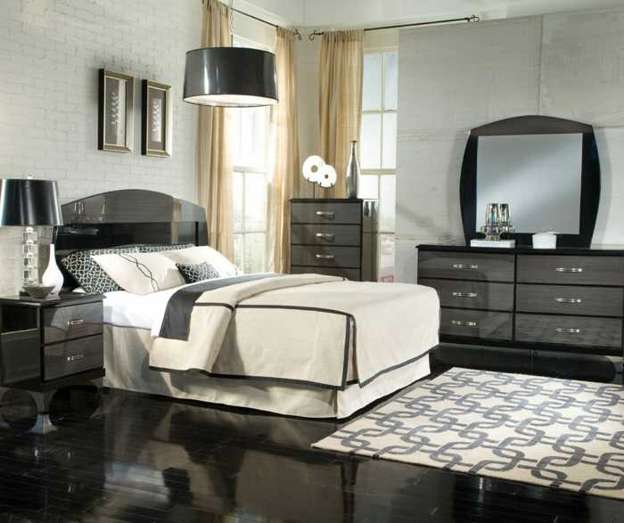 schlafzimmer dekorieren bilder männlicher look