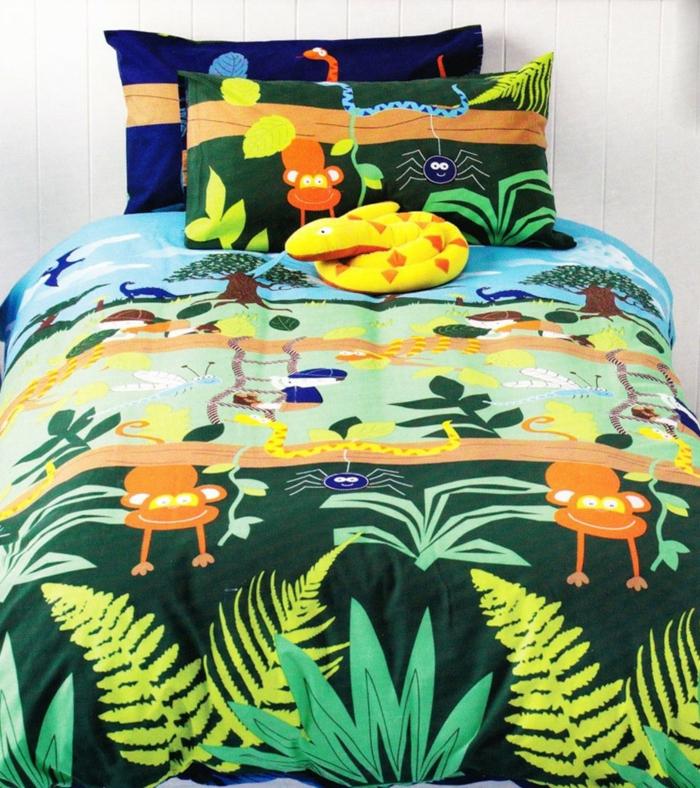 schlafzimmer dekorieren kinderzimmer gestalten dschungel motive