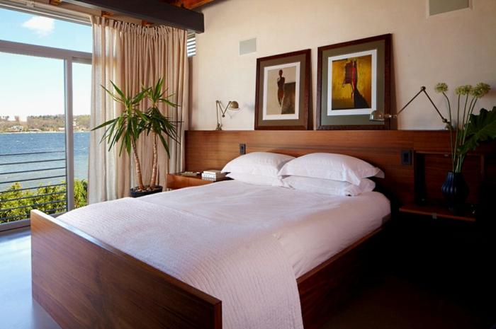 schlafzimmer gestalten bett extra stauraum schaffen