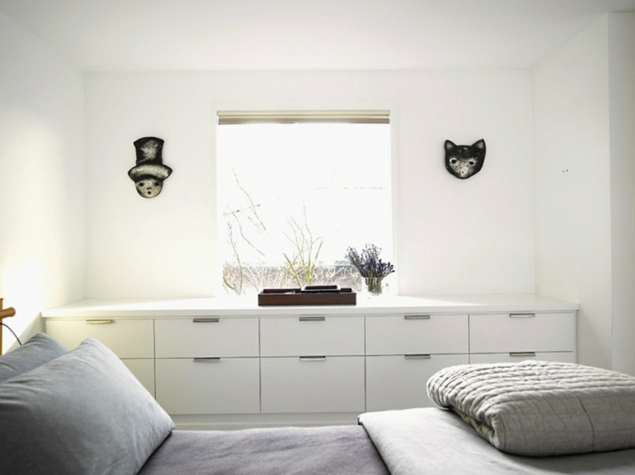 schlafzimmer gestalten mehr stauraum schaffen moderne anrichte