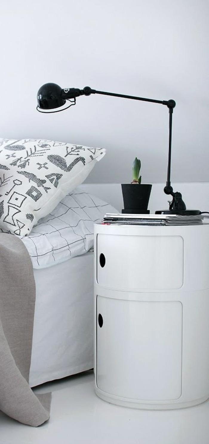 schlafzimmer gestalten mehr stauraum schaffen nachttisch schubladen