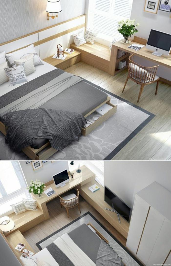 schlafzimmer gestalten mehr stauraum schaffen schlafzimmer möbel