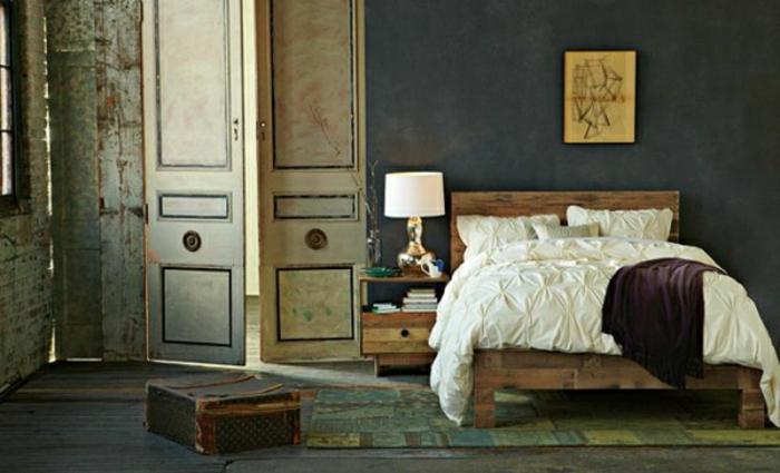 schlafzimmer möbel aus paletten wandverkleidung holz