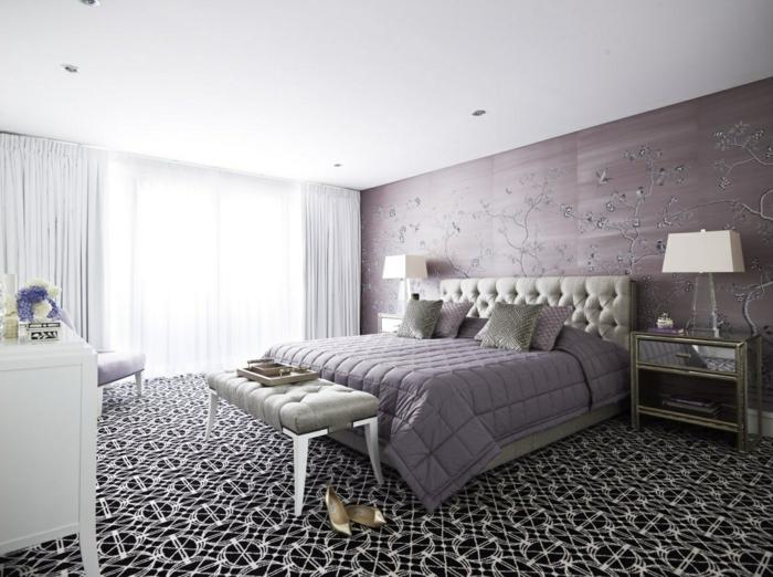 Großartige schlafzimmereinrichtung vereinigt komfort und stil in