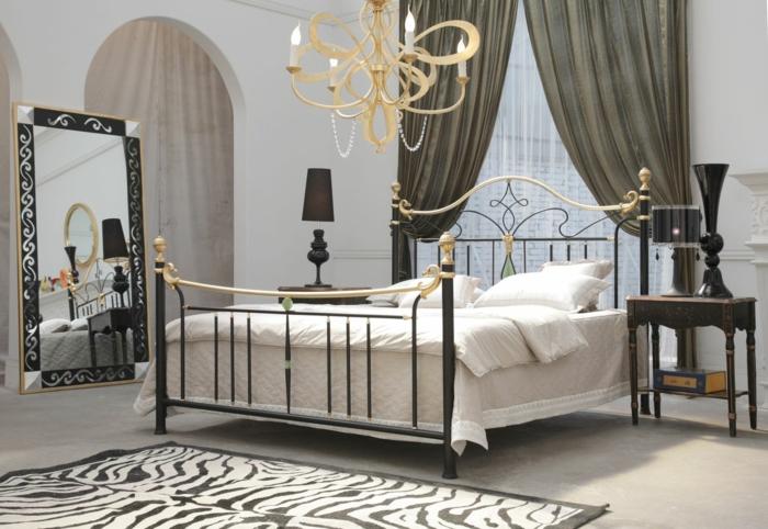 schmiedeeisen bett gold kolonial stil luxus
