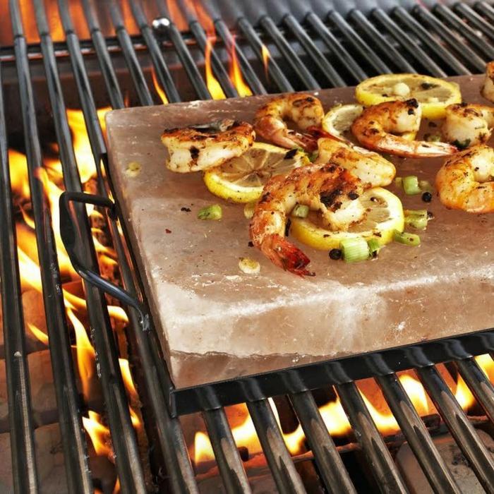 schrimps kochen auf himalaya salz anwendung