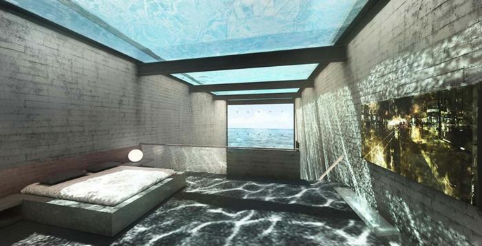 sichtbeton haus brutalismus schlafzimmer minimalistisch