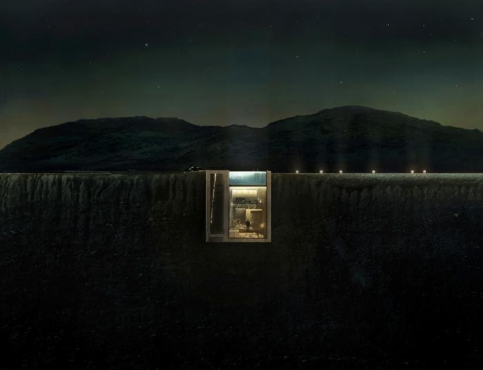 sichtbeton haus underground architektur wüste