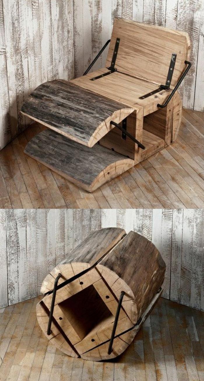 sitzmöbel ausgefallener stuhl holz klappbar