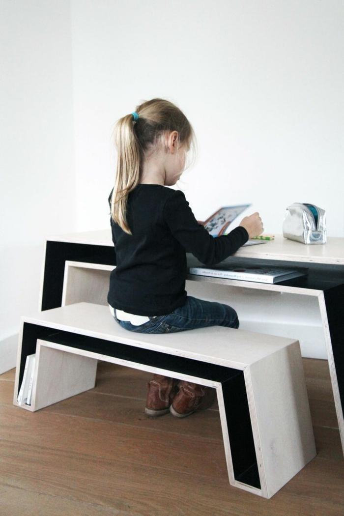 sitzmöbel coole sitzbank kinderzimmer schreibtisch