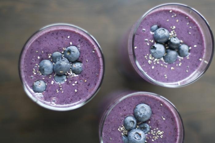 smoothie rezepte blaubeeren sesam