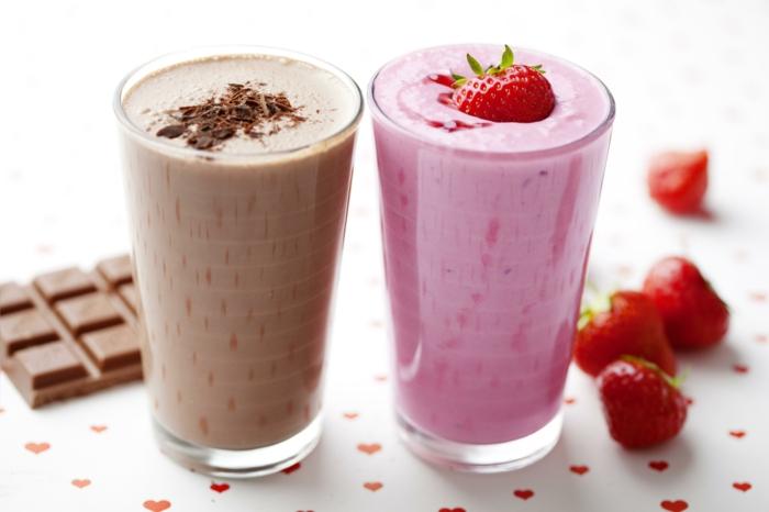 smoothie rezepte frische früchte eiswürfel schokolade