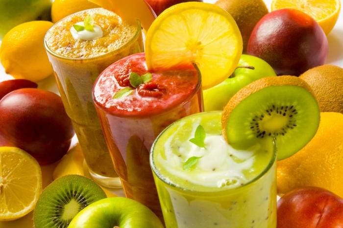 smoothie rezepte sommerlich gesund vitamine mineralien