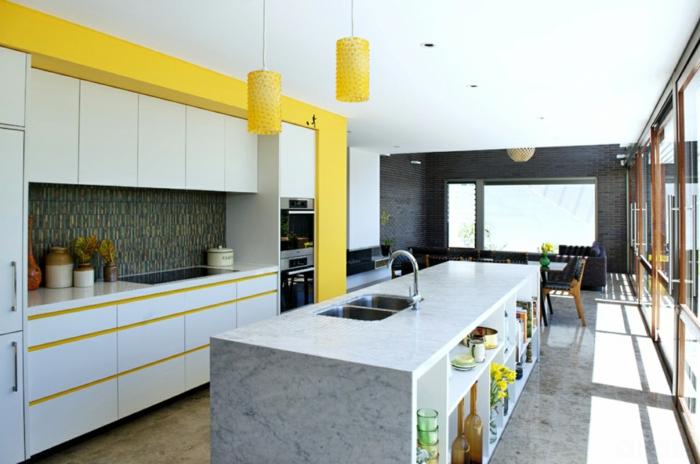 sommerfarben pantone farben gelb moderne kücheneinrichtung