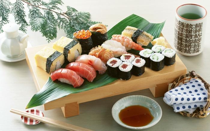 sushi geshirr set blau japanisches geschirr küchenzubehör