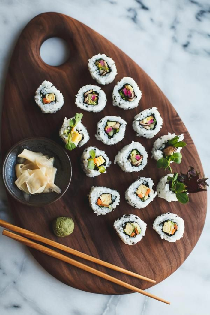 sushi geshirr set japanische tradition holz brett schale