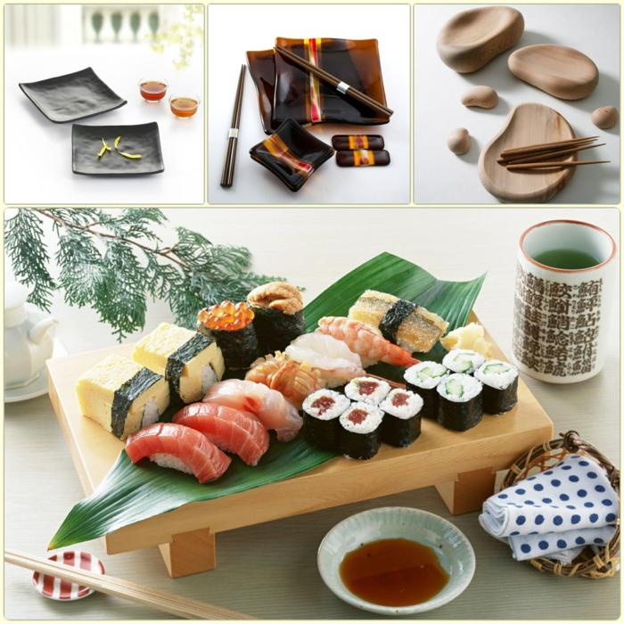sushi geshirr set japanisches geschirr und sushi zubehör