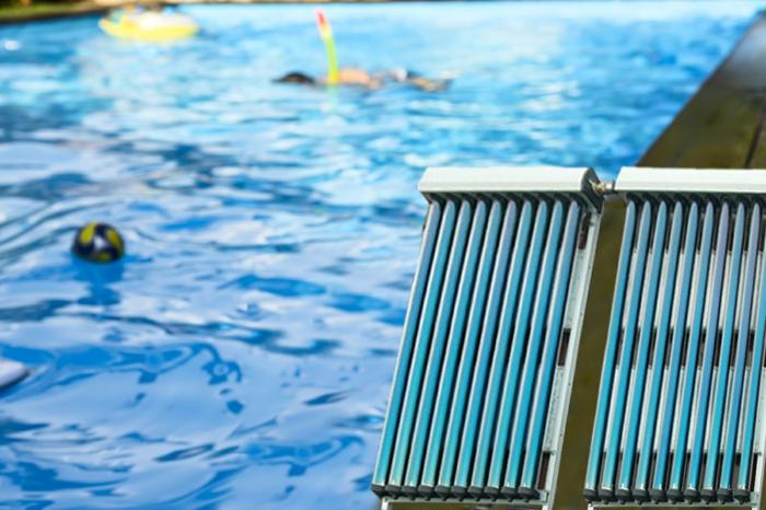 swimmingpools wasser wärmung solaranlage
