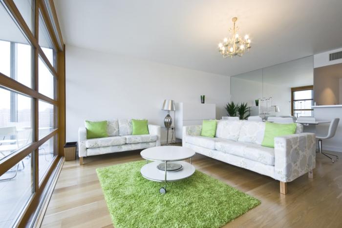 teppich reinigen grün baumwolle helle wohnzimmermöbel