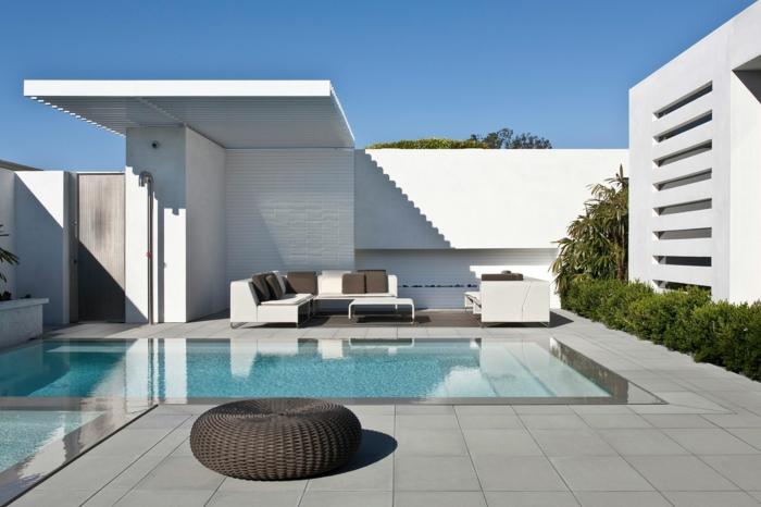 terrasse gestalten elegant schwimmbad gartenmöbel