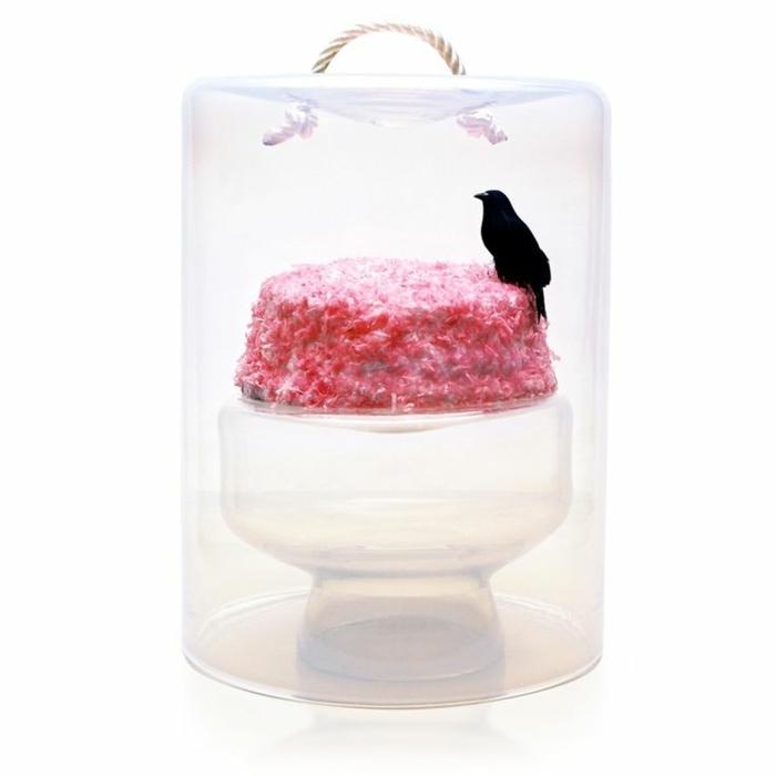 tortenständer minimalistisches design glas käseglocke