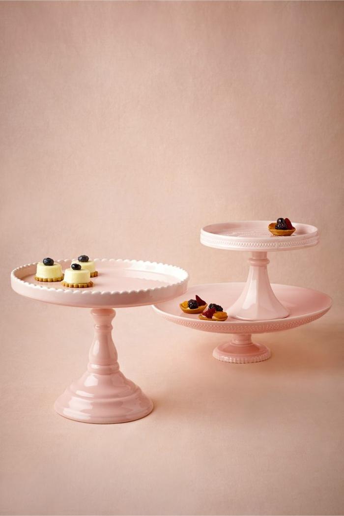 tortenständer rosa keramik retro