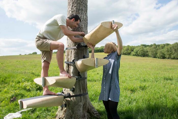 Treppe selber bauen - DIY Idee für eine außergewöhnliche Baumtreppe