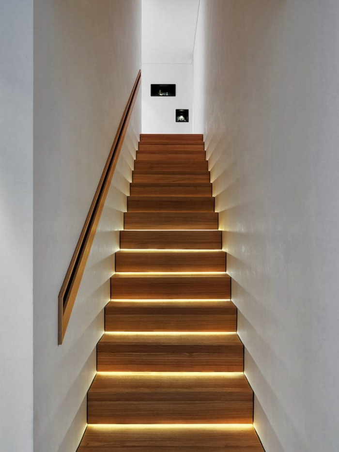treppenbeleuchtung cooler effekt innenarchitektur