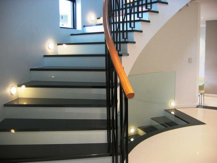 treppenbeleuchtung einbauleuchten wände moderne innenanrchitektur