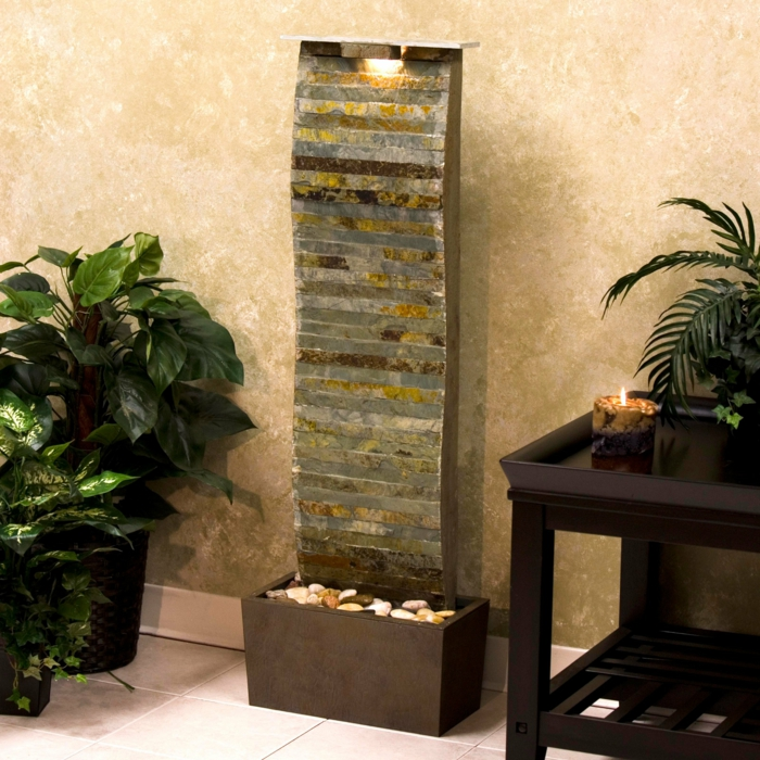 Wandbrunnen elegante ideen wie sie den au enbereich for Pflanzen design