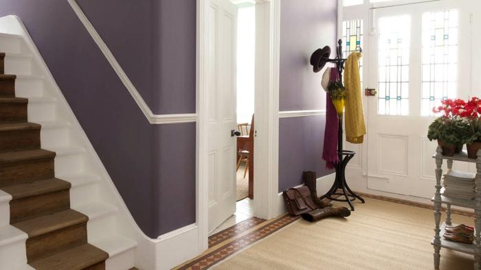 Die passende wandfarbe auf die richtige art und weise einsetzen - Wandfarbe dunkellila ...