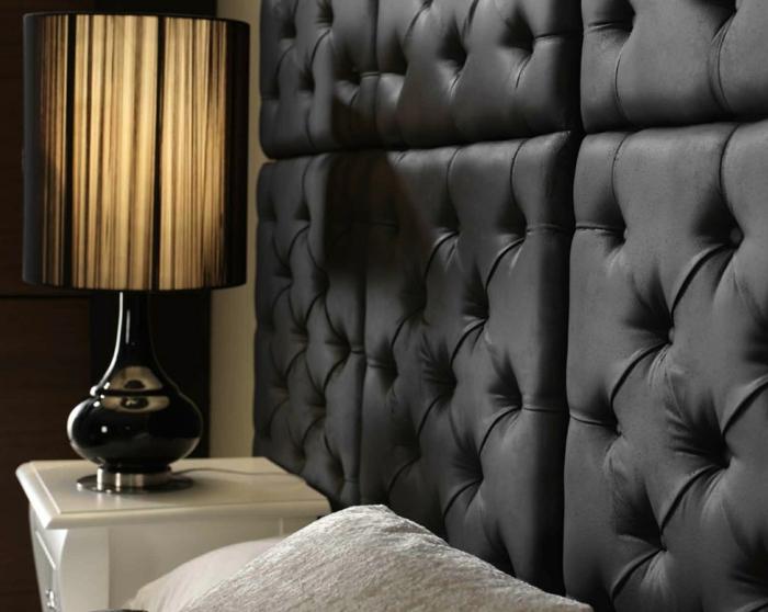 Wandgestaltung Ideen Schlafzimmer Elegant Wandpaneele Leder Kreative  Wandgestaltung Sorgt Für Großartige Erscheinung Im Raum | Dekoration ...