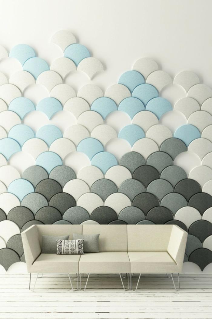 Attraktiv Kreative Wandgestaltung Sorgt Für Großartige Erscheinung Im Raum ...