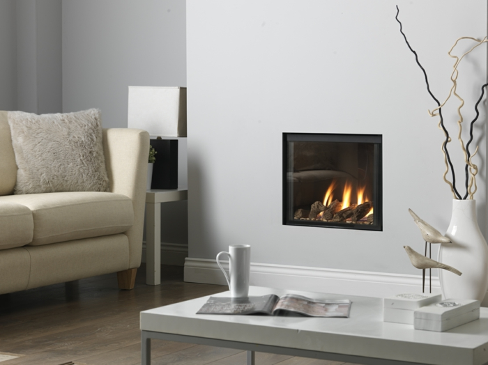 wandkamin design wohnzimmer einrichten sofa