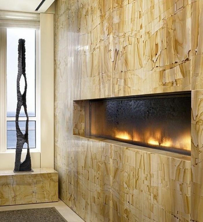Gro artige wandkamin designs die platz sparen und eleganz ausstrahlen - Coole wanddesigns ...
