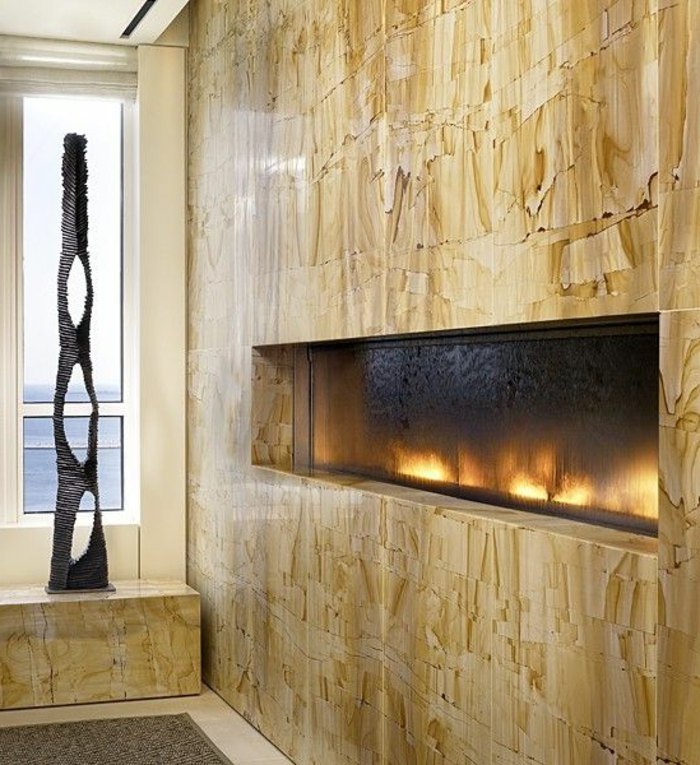 wandkamin stilvolles design coole wandgestaltung