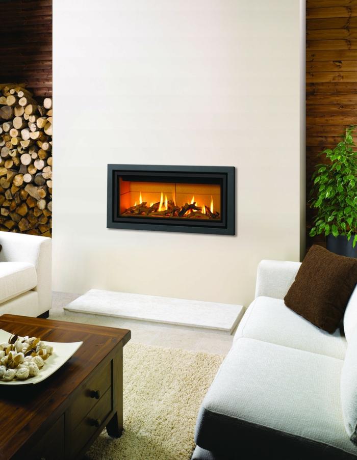 moderne kamine wand wohnzimmer gestalten wohnzimmersofa couchtisch