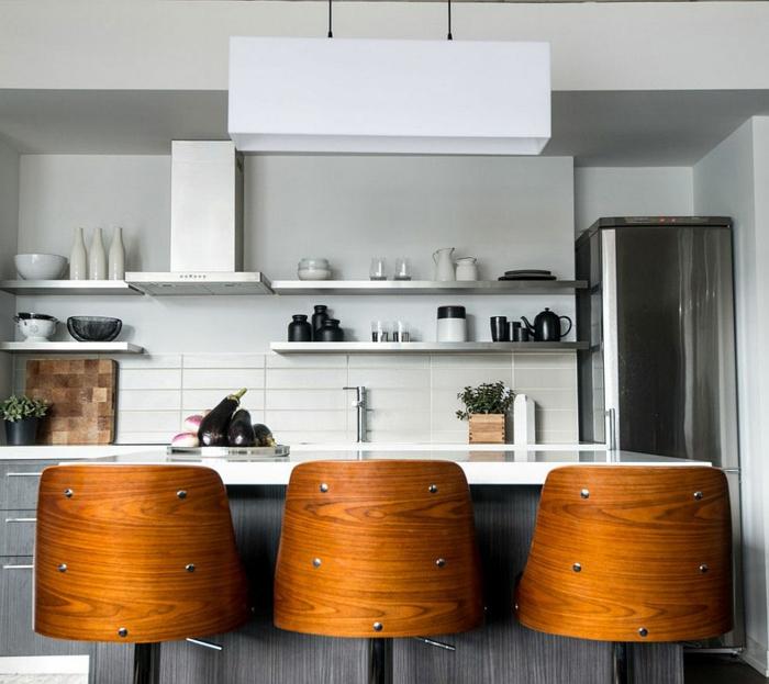 wohnung einrichten industrielle küche holz gemütlichkeit