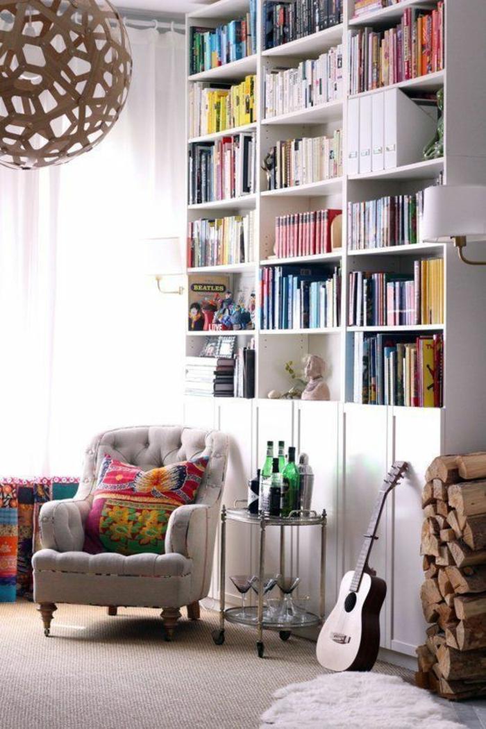 wohnzimmer einrichten wohnzimmermöbel bücherregale wand