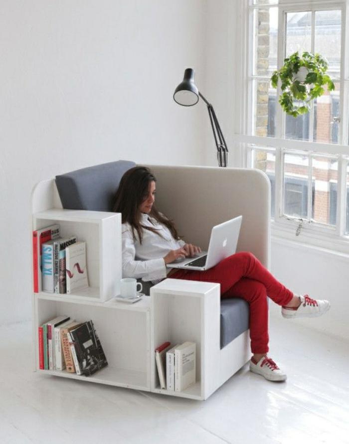 wohnzimmer einrichten wohnzimmermöbel sessel mit stauraum