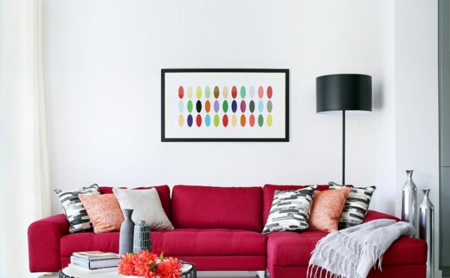 Wandgestaltung Wohnzimmer Rot Ideen : Wohnzimmerideen: So gestalten ...