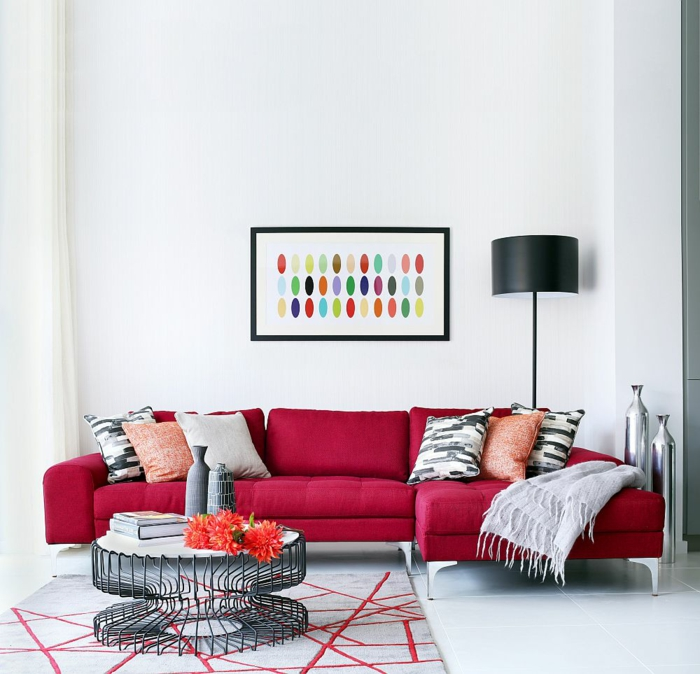 wohnzimmer gestalten rot ~ dekoration, inspiration innenraum und ...