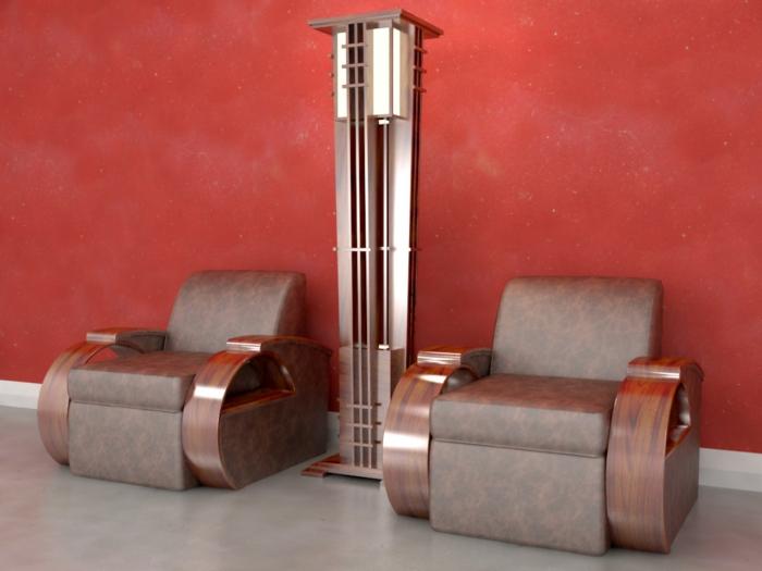 Art Deco Möbel Fluter sessel