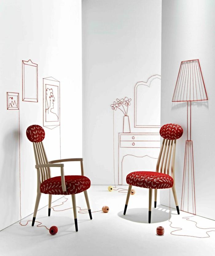 Art Deco Möbel visuelle stühle