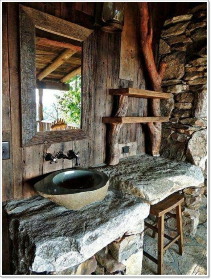 Die Badewanne in der Mitte des Badezimmers kann ein besonderes ...