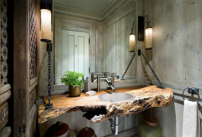 Badezimmerideen  22 Badezimmer Ideen für eine rustikale Gemütlichkeit
