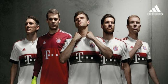 Bayern Munich 15 16 adidas away fußball trikots