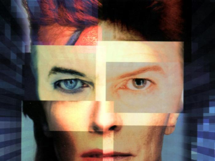 David Bowie Augen collage