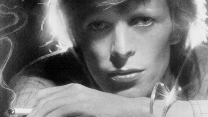David Bowie Augen grau