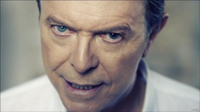 David Bowie Augen nah